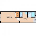 北九州市八幡西区医生ケ丘【1K】賃貸空き家・空きマンション・空きアパート(間取)